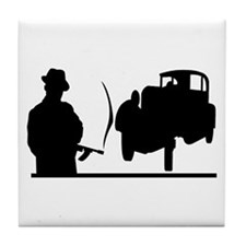 Cute Gangsters Tile Coaster