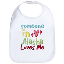 Someone in Alaska Loves Me Bib