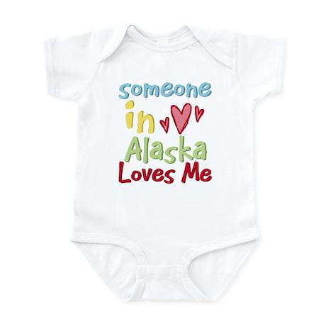 Someone in Alaska Loves Me Infant Bodysuit