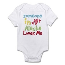 Someone in Alaska Loves Me Infant Bodysuit