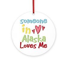Someone in Alaska Loves Me Ornament (Round)
