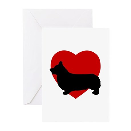 Corgi Valentine's Day Greeting Cards (Pk of 20)