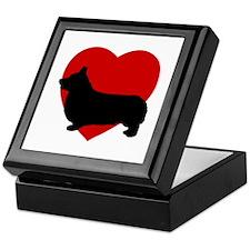 Corgi Valentine's Day Keepsake Box