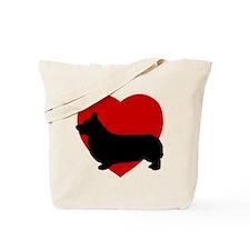 Corgi Valentine's Day Tote Bag