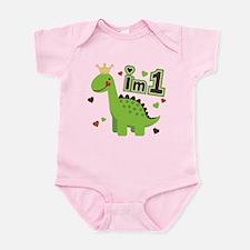I'm 1 Dinosaur Princess Infant Bodysuit