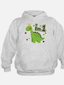 I'm 1 Dinosaur Princess Hoodie