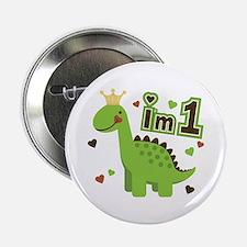 "I'm 1 Dinosaur Princess 2.25"" Button"