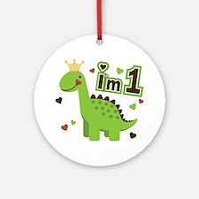 I'm 1 Dinosaur Princess Ornament (Round)