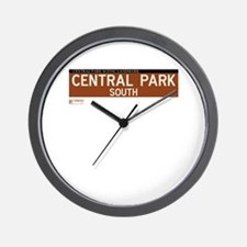 Central Park South in NY Wall Clock
