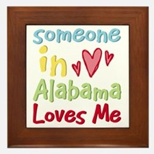 Someone in Alabama Loves Me Framed Tile