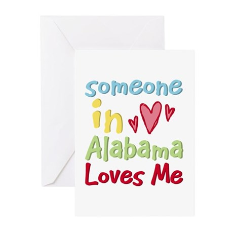 Someone in Alabama Loves Me Greeting Cards (Pk of