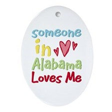 Someone in Alabama Loves Me Oval Ornament