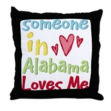 Someone in Alabama Loves Me Throw Pillow