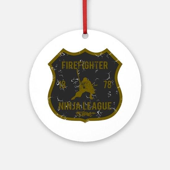 Firefighter Ninja League Ornament (Round)