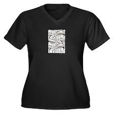 Cute Cool sports designs Women's Plus Size V-Neck Dark T-Shirt