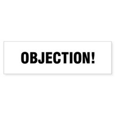 OBJECTION! Bumper Car Sticker