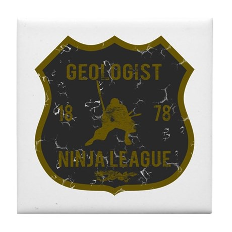 Geologist Ninja League Tile Coaster