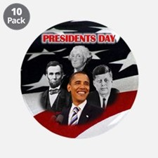 """Presidents Day 3.5"""" Button (10 pack)"""