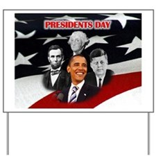 Presidents Day Yard Sign