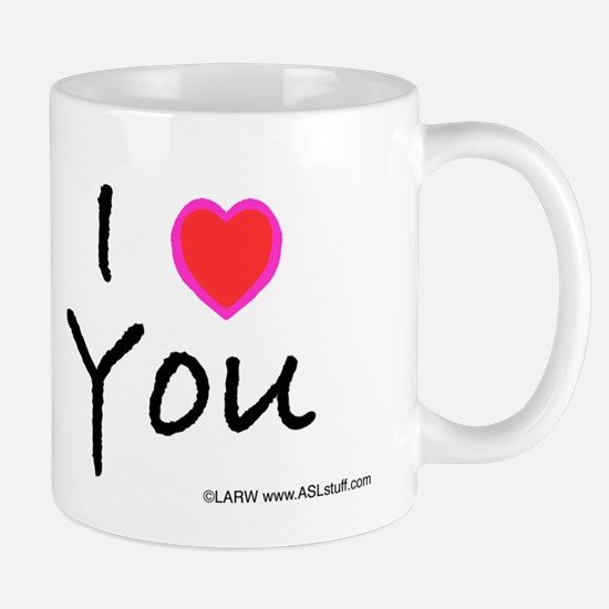 Aqua Bold I-Love-You Mug