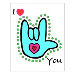 Aqua Bold I-Love-You Posters