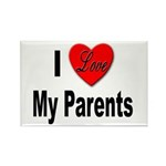 I Love My Parents Rectangle Magnet (10 pack)