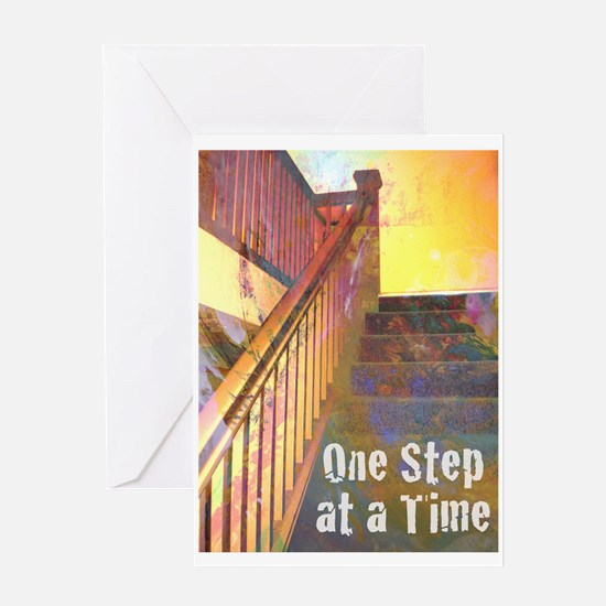 RECOVERY 12 STEPS Greeting Card