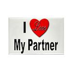 I Love My Partner Rectangle Magnet (10 pack)
