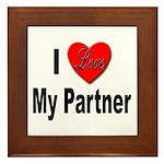 I Love My Partner Framed Tile