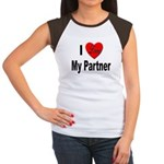 I Love My Partner (Front) Women's Cap Sleeve T-Shi