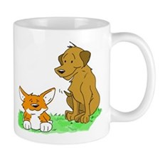 Corgi and Brown Puppy Mug