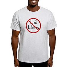 No Land Lubbers Ash Grey T-Shirt