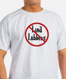 No Land Lubbers Ash Grey T-Shirt