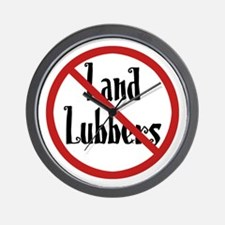 No Land Lubbers Wall Clock