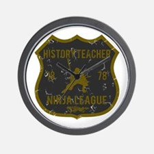 History Teacher Ninja League Wall Clock