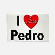I Love Pedro Rectangle Magnet