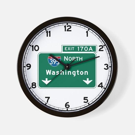 Washington, DC Highway Sign Wall Clock