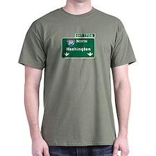Washington, DC Highway Sign T-Shirt