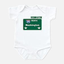 Washington, DC Highway Sign Infant Bodysuit