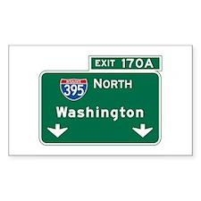 Washington, DC Highway Sign Rectangle Decal