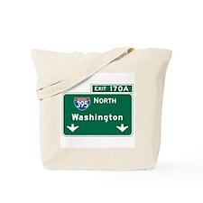 Washington, DC Highway Sign Tote Bag