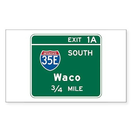 Waco, TX Highway Sign Rectangle Sticker