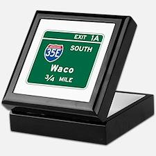 Waco, TX Highway Sign Keepsake Box