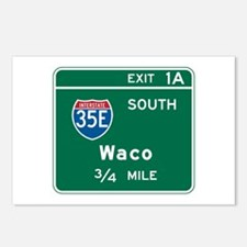 Waco, TX Highway Sign Postcards (Package of 8)