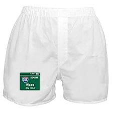 Waco, TX Highway Sign Boxer Shorts