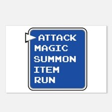 final fantasy attack magic summon item run gamer P