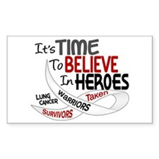 Time To Believe LUNG CANCER Rectangle Decal