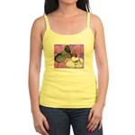Trumpeter Pigeons and Flowers Jr. Spaghetti Tank