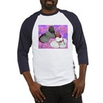 Trumpeter Pigeons and Flowers Baseball Jersey