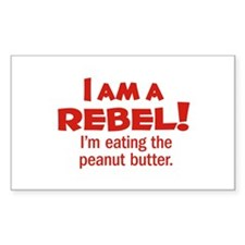 Food Rebel Rectangle Decal
